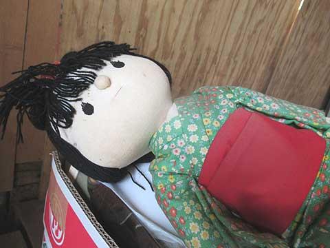 人形のお焚き上げ